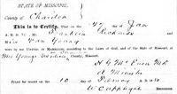 Franklin P. Richards (1852-1906) & Nancy Young (1863-1894), Marriage certificate