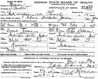 Edna Isabelle Jones (1912-2000) Birth certificate