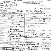 Mattie Martha M. Thomas (1868-1911) Death certificate