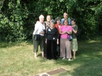 Visiting the graves of Ed and Margie Richter