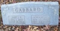 James Reynolds Gabbard (1882-1968) & Maggie Hall (1893-1967)