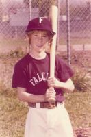 Steve Howard loved baseball all his life. Here he is in his first Little League uniform