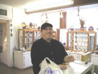 Steve Howard- buying a Mother's Day gift in San Antonio- TX in March 2004. He shipped it to her. He was sure she would like it. She did.