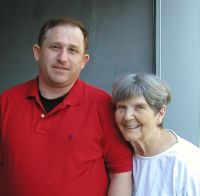 Steve Howard and his grandmother- Mary Vernon- June 2003- Provo- UT at Mary's home.